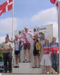 Henrik øverst på podiet ved Veteran DM  2006